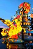 Het vliegen Fantasie Unicorn Japanese Lantern Stock Fotografie