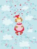 Het vliegen gelukkige engel Royalty-vrije Illustratie