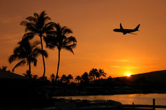 Het vliegen in Hawaï Royalty-vrije Stock Foto's