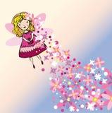 Het vliegen het beeld van de bloemfee Royalty-vrije Illustratie