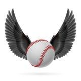Het vliegen honkbal Royalty-vrije Stock Foto's