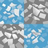 Het vliegen lege document bladen vectorreeks royalty-vrije illustratie