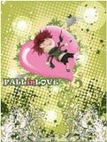 Het vliegen Liefde Stock Fotografie