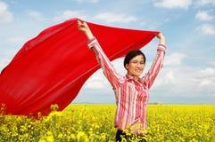 Het vliegen met de wind Royalty-vrije Stock Fotografie