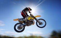 Het vliegen moto Stock Foto's