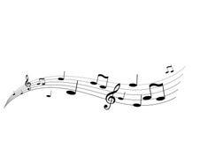 Het vliegen muziek Stock Foto's