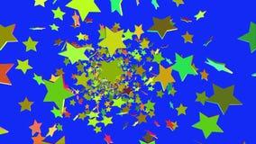 Het vliegen op camerasterren in diverse kleuren vector illustratie