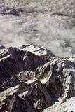 Het vliegen over Alpen Royalty-vrije Stock Foto's