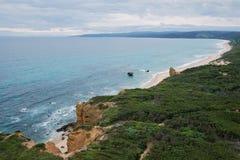 Het vliegen over Australische kusten Stock Foto's