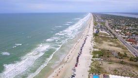 Het vliegen over Daytona Florida stock video