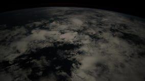 Het vliegen over de aarde op ISS Elementen van deze video die door NASA wordt geleverd stock videobeelden