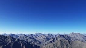 Het vliegen over de bergen stock illustratie