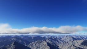 Het vliegen over de bergen en de wolken vector illustratie
