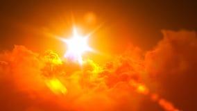 Het vliegen over de helse wolken stock illustratie