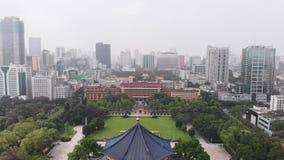 Het vliegen over Dr. Memorial Hall van Sun Yat-sen guangzhou