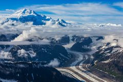 Het vliegen over Gletsjer Royalty-vrije Stock Foto