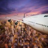 Het vliegen over NY Royalty-vrije Stock Foto
