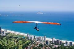 Het vliegen over Strand Stock Afbeeldingen