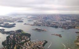 Het vliegen over Sydney Royalty-vrije Stock Afbeelding