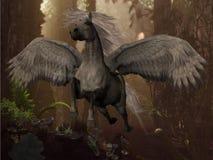 Het vliegen Pegasus Royalty-vrije Stock Afbeeldingen