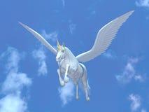 Het vliegen pegasus stock illustratie