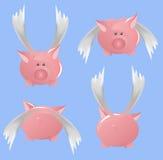 Het vliegen piggi Royalty-vrije Stock Fotografie