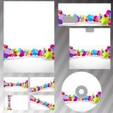 Het vliegen reeks van de kubussen de collectieve kantoorbehoeften Royalty-vrije Stock Afbeelding