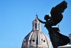 Het vliegen in Rome Stock Foto