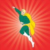 Het vliegen superhero Stock Fotografie