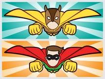 Het vliegen superhero Stock Foto