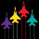 het vliegen toont, informatie grafische achtergrond Royalty-vrije Stock Foto's