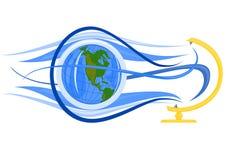 Het vliegen van de bol vector illustratie