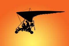 Het vliegen van de deltavlieger royalty-vrije illustratie