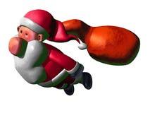 Het vliegen van de Kerstman Stock Afbeeldingen
