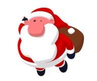 Het vliegen van de Kerstman Royalty-vrije Stock Afbeeldingen
