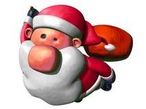 Het vliegen van de Kerstman Stock Afbeelding
