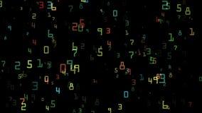 Het vliegen van de multicolored aantallen vector illustratie