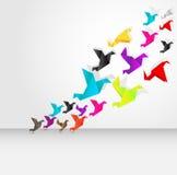 Het vliegen van de origami vector illustratie