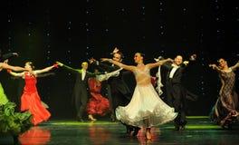 Het vliegen van de rok-quick-step-de werelddans van Oostenrijk Stock Afbeeldingen