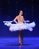 Het vliegen van de rok-quick-step-de werelddans van Oostenrijk Stock Foto's