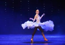 Het vliegen van de rok-quick-step-de werelddans van Oostenrijk Stock Afbeelding