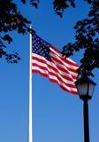 Het Vliegen van de Vlag van de V.S.   Royalty-vrije Stock Foto's