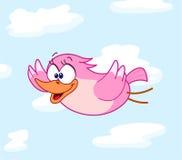 Het vliegen van de vogel stock illustratie