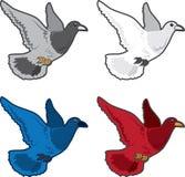 Het Vliegen van de vogel Kleuren royalty-vrije illustratie