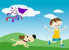 Het vliegen van een vlieger vector illustratie