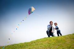 Het vliegen van een vlieger Royalty-vrije Stock Afbeelding