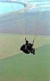 Het vliegen van het glijscherm Royalty-vrije Stock Foto's