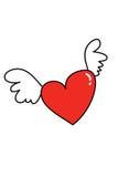 Het vliegen van het hart Royalty-vrije Stock Foto