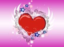 Het vliegen van het hart Stock Afbeelding
