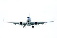 Het vliegen van het vliegtuig stock afbeeldingen